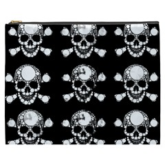 Skull Bling Cosmetic Bag (xxxl) by OCDesignss