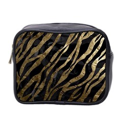 Gold Zebra  Mini Travel Toiletry Bag (two Sides) by OCDesignss