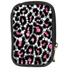 Pink Cheetah Bling Compact Camera Leather Case by OCDesignss