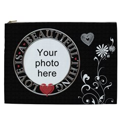 Beautiful Love Xxl Cosmetic Bag By Lil    Cosmetic Bag (xxl)   Qn7btoxrftt3   Www Artscow Com Front