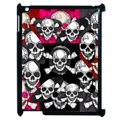 Pink Skull Bling Apple Ipad 2 Case (black) by OCDesignss