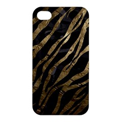 Gold Zebra  Apple Iphone 4/4s Premium Hardshell Case by OCDesignss