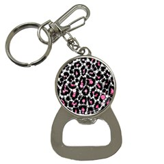 Pink Cheetah Bling Bottle Opener Key Chain by OCDesignss
