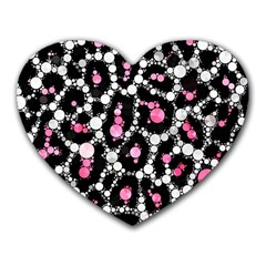 Pink Cheetah Bling Mouse Pad (heart) by OCDesignss