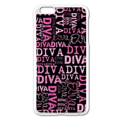 Diva  Apple iPhone 6 Plus Enamel White Case by OCDesignss