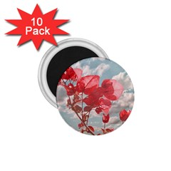 Flowers In The Sky 1 75  Button Magnet (10 Pack) by dflcprints
