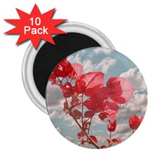Flowers In The Sky 2 25  Button Magnet (10 Pack) by dflcprints