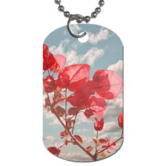 Flowers In The Sky Dog Tag (one Sided) by dflcprints