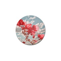 Flowers In The Sky Golf Ball Marker by dflcprints