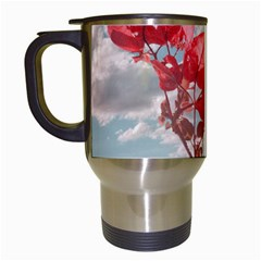 Flowers In The Sky Travel Mug (white) by dflcprints