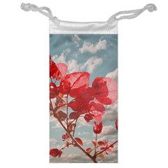Flowers In The Sky Jewelry Bag by dflcprints