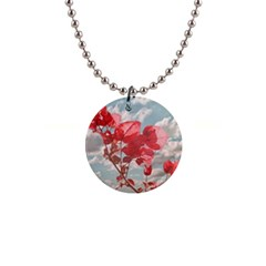 Flowers In The Sky Button Necklace by dflcprints