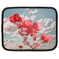 Flowers In The Sky Netbook Sleeve (xxl) by dflcprints