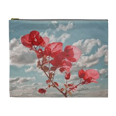 Flowers In The Sky Cosmetic Bag (xl) by dflcprints