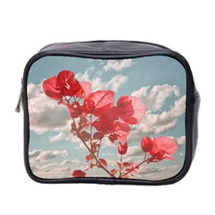Flowers In The Sky Mini Travel Toiletry Bag (two Sides) by dflcprints