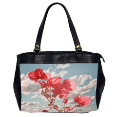 Flowers In The Sky Oversize Office Handbag (two Sides) by dflcprints