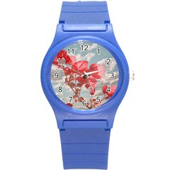 Flowers In The Sky Plastic Sport Watch (small) by dflcprints