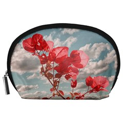 Flowers In The Sky Accessory Pouch (large) by dflcprints