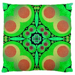 Neon Green  Standard Flano Cushion Case (one Side) by OCDesignss