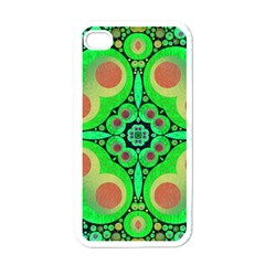 Neon Green  Apple Iphone 4 Case (white) by OCDesignss