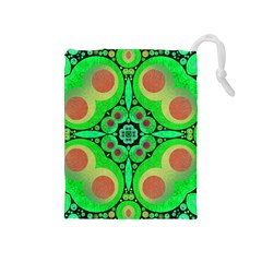Neon Green  Drawstring Pouch (medium)