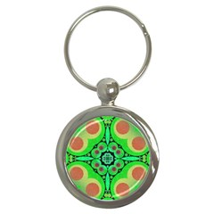 Neon Green  Key Chain (round) by OCDesignss