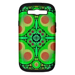 Neon Green  Samsung Galaxy S Iii Hardshell Case (pc+silicone) by OCDesignss