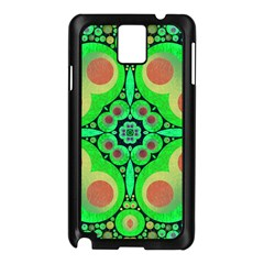 Neon Green  Samsung Galaxy Note 3 N9005 Case (Black) by OCDesignss