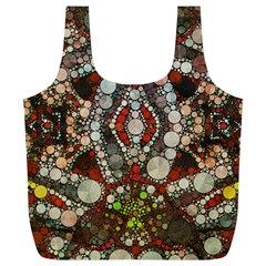 Crazy Abstract  Reusable Bag (xl) by OCDesignss