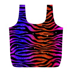 Rainbow Zebra  Reusable Bag (l) by OCDesignss