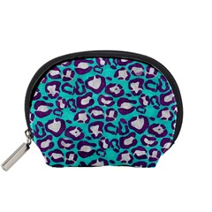 Turquoise Cheetah Accessory Pouch (Small) by OCDesignss