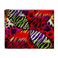 Crazy Animal Print Lady  Cosmetic Bag (xl) by OCDesignss