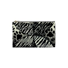 Crazy Animal Print  Cosmetic Bag (small) by OCDesignss