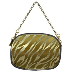 Metal Gold Zebra  Chain Purse (one Side)