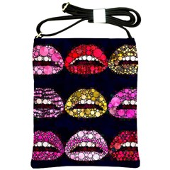 Bling Lips  Shoulder Sling Bag by OCDesignss