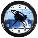 Whale I Wall Clock (Black)