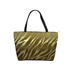 Metal Gold Zebra  Large Shoulder Bag by OCDesignss