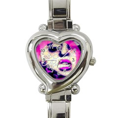 Lady With A Attitude  Heart Italian Charm Watch  by OCDesignss