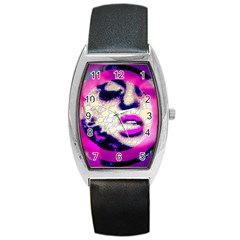 Lady With A Attitude  Tonneau Leather Watch by OCDesignss