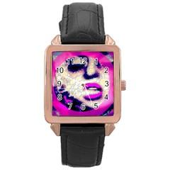 Lady With A Attitude  Rose Gold Leather Watch  by OCDesignss