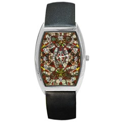 Crazy Abstract  Tonneau Leather Watch by OCDesignss