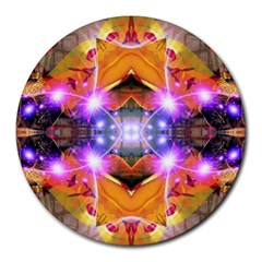 Abstract Flower 8  Mouse Pad (round) by icarusismartdesigns