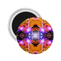 Abstract Flower 2 25  Button Magnet by icarusismartdesigns