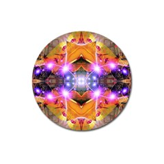 Abstract Flower Magnet 3  (Round) by icarusismartdesigns