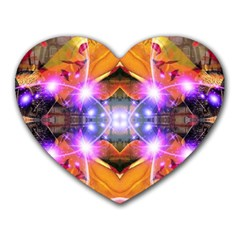 Abstract Flower Mouse Pad (heart) by icarusismartdesigns