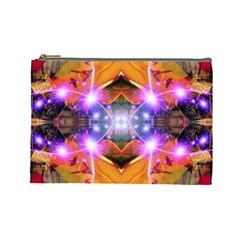 Abstract Flower Cosmetic Bag (large) by icarusismartdesigns