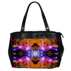 Abstract Flower Oversize Office Handbag (one Side) by icarusismartdesigns