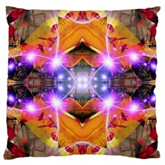 Abstract Flower Large Cushion Case (two Sided)  by icarusismartdesigns