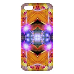 Abstract Flower Apple Iphone 5 Premium Hardshell Case by icarusismartdesigns
