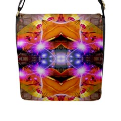 Abstract Flower Flap Closure Messenger Bag (large) by icarusismartdesigns